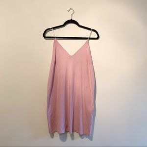 """Forever 21 • Pink """"Suede"""" Tank Dress"""